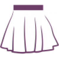 ДЮ 110 Юбка расклешенная с боковыми швами, широкий пояс