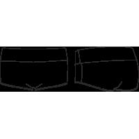 ТШ 23-361 Спортивные трусы-шорты с высоким мягким поясом