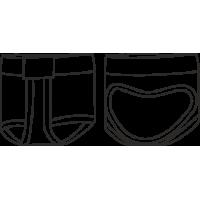 ПЧКЗ Получешки для контемпа  защита стопы из эластичного трикотажа