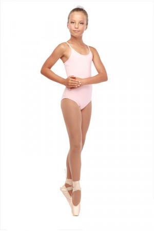 Г 43-301 Ф Купальник гимнастический на тонких лямках (хлопок) Цвет фламинго