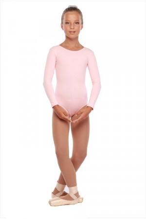 Г 93-301 Ф Купальник гимнастический, длинный рукав (хлопок) Цвет фламинго