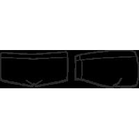 Ш 24-301 Шорты короткие для девочек облегающие с притачным поясом